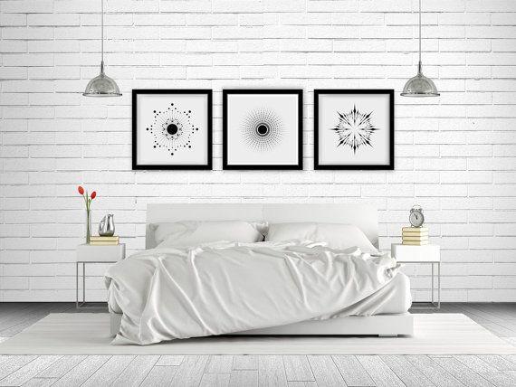 Sunburst Trio Series Wall Art Printable  3 by NordicPrintStudio