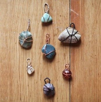 178 best rocks images on pinterest painted rocks pebble art and diy easy wire wrapped stone pendant tutorial easy cheap and can be worn aloadofball Images