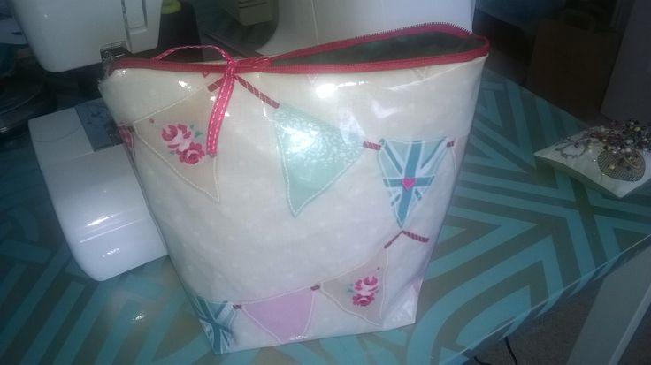 Pretty PVC Bunting Make-Up Bag