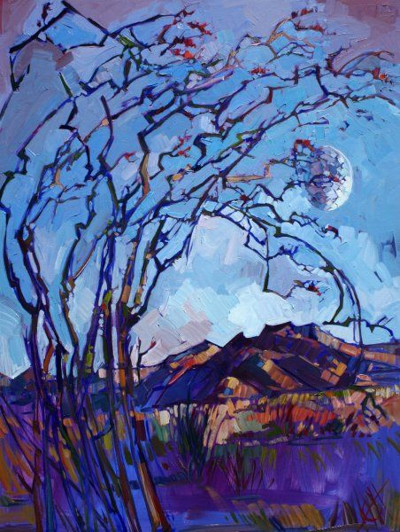 Borrego Springs Oil Painting by Erin Hanson