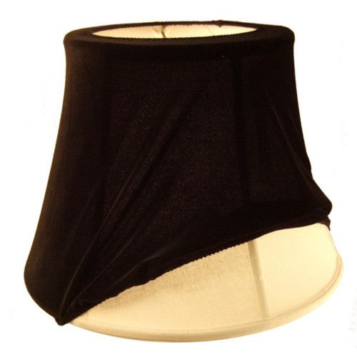 Slip cover for lamp shade homeconcept shade slip cover black medium 081612sc bk