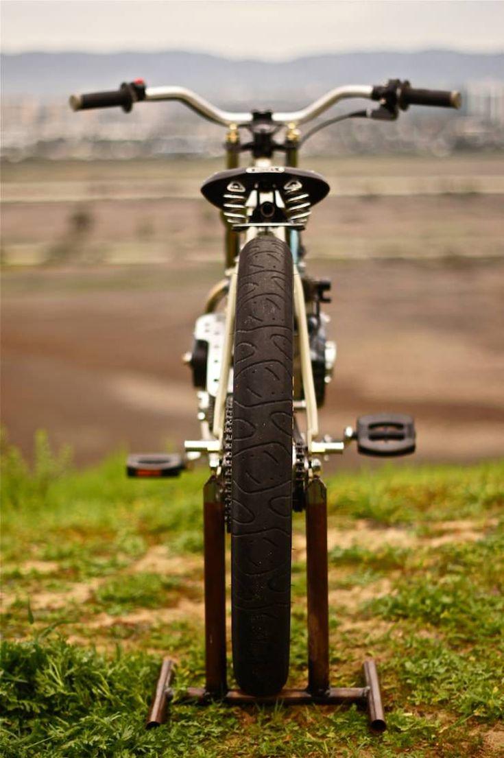 Car amp bike fanatics suzuki m50 bobber bike - Motorized Bicycle 6