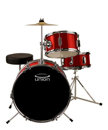 Metallic Red Union UJ3 Junior Drum Kit  by Cascio Interstate Music on #zulily today! (Oh yeah, little man will need this soon.)