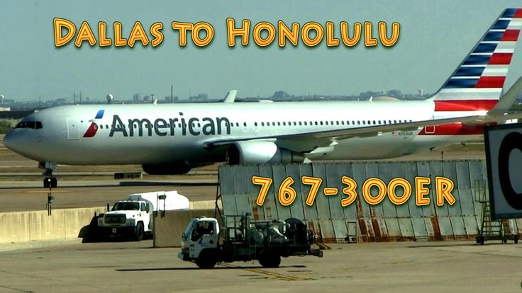 (Dallas to Honolulu) Full Flight! HD! Ameican Airlines