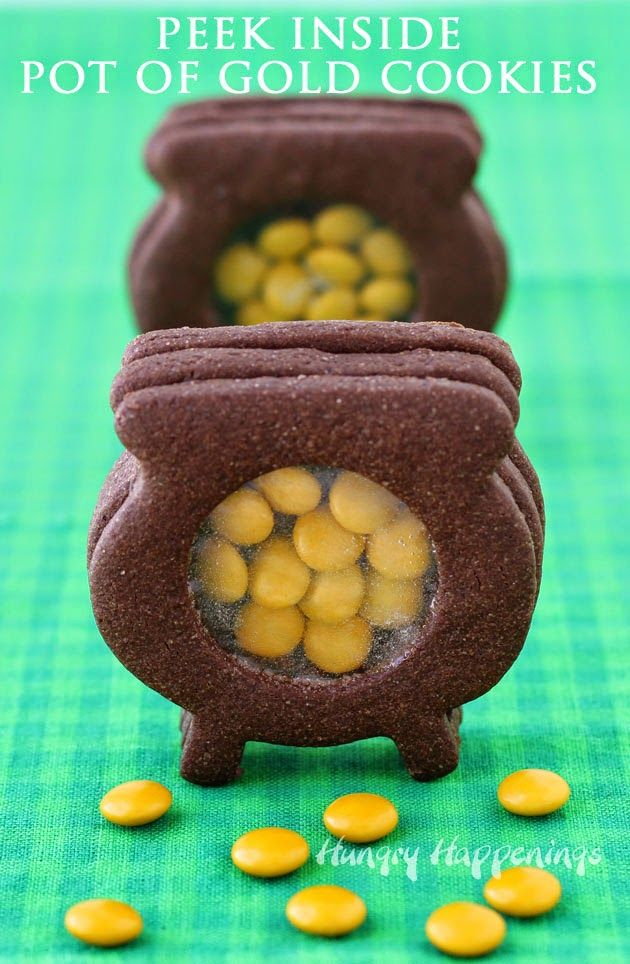 Peek Inside Chocolate Pot of Gold Cookies