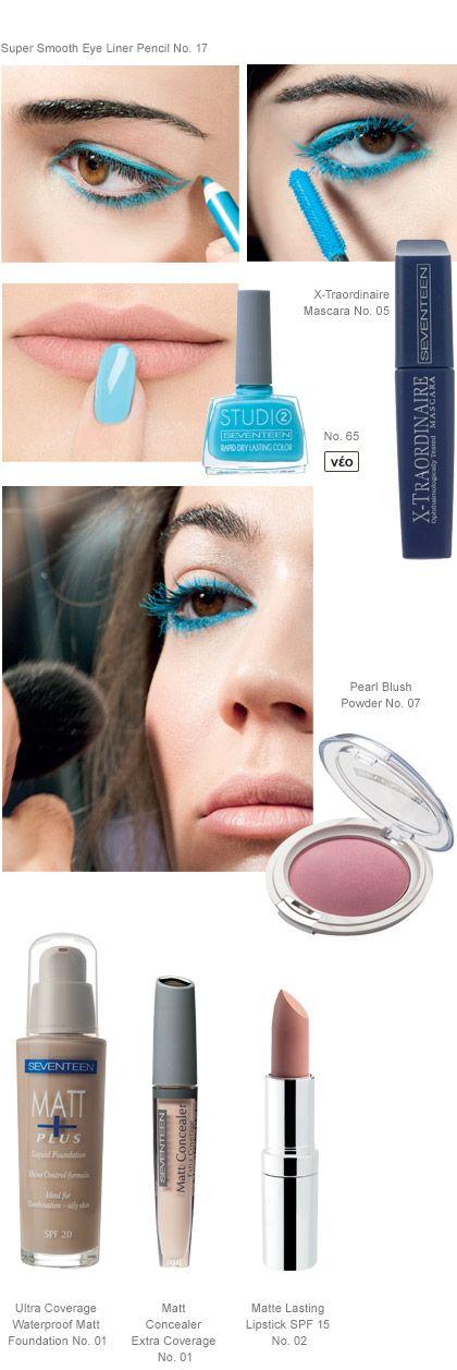 Blue is the new black   Seventeen Cosmetics #Seventeen #Cosmetics #makeup
