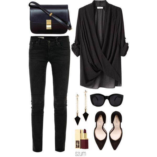 A fashion look from April 2013 featuring Helmut Lang blouses, AG Adriano Goldschmied jeans en Zara pumps. Browse and shop related looks.