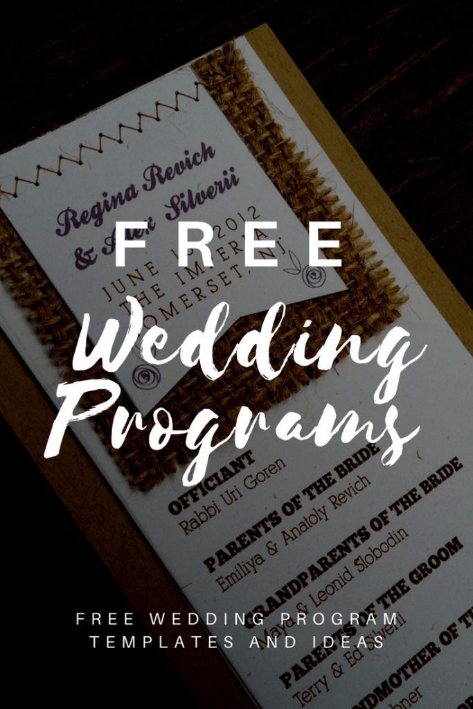 Free Downloadable Wedding Program Templates Printable Wedding