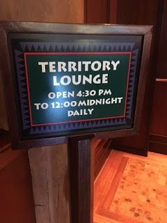 Territory Lounge at Disney's Wilderness Lodge. #WaltDisneyWorld #disneyresorts  #DisneyDining