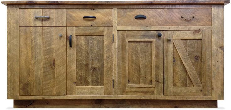 Reclaimed Wood Cabinets ~ Reclaimed wood cabinets for the kitchen