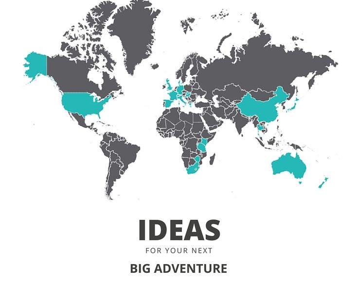 MY TRAVEL BUCKET LIST So many unhighlighted countries on my map, so many adventures ahead