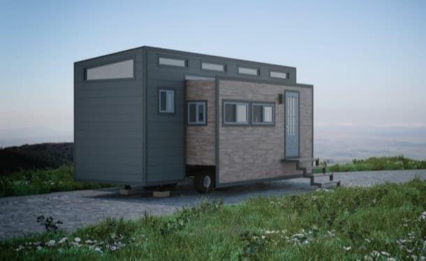 AURORA: casita expandible sobre un remolque. El constructor canadiense ZeroSquared tiene un magnífico diseño de casita expandible. Es una combinación de casa diminuta y caravana, y cuesta 75.000USD. El proyecto es bastante interesante, a pesar de que aún no se ha construido ningún prototipo. Está montada sobre un remolque de 2 ejes, y alcanza una superficie de 31,3m2 cuando está expandida. Tiene un dormitorio, baño, cocina, y sala.  #CasasPrefabricadas, #Vídeos