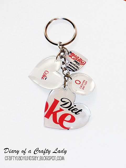 Keychain made out of old pop can