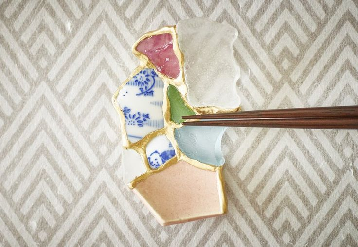 """""""As every Japanese has realized, the waves can take away a great deal from us,"""" says artist Tomomi Kamoshita. But it is also true that we greatly benefit from it."""" Using broken pieces of ceramics that she picked up on the shore, and combining it with pieces of her own broken ceramics, the Tokyo-"""