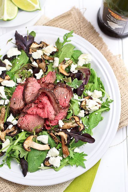 Leftover Roast Beef Salad with Shiitake Mushrooms and Soft Goat Chees ...