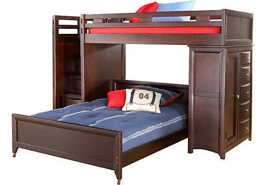 Shop for a Ivy League Twin Full Step Loft w Chest at Rooms To Go Kids. Find  that will look great in your home and complement the rest of your furniture.
