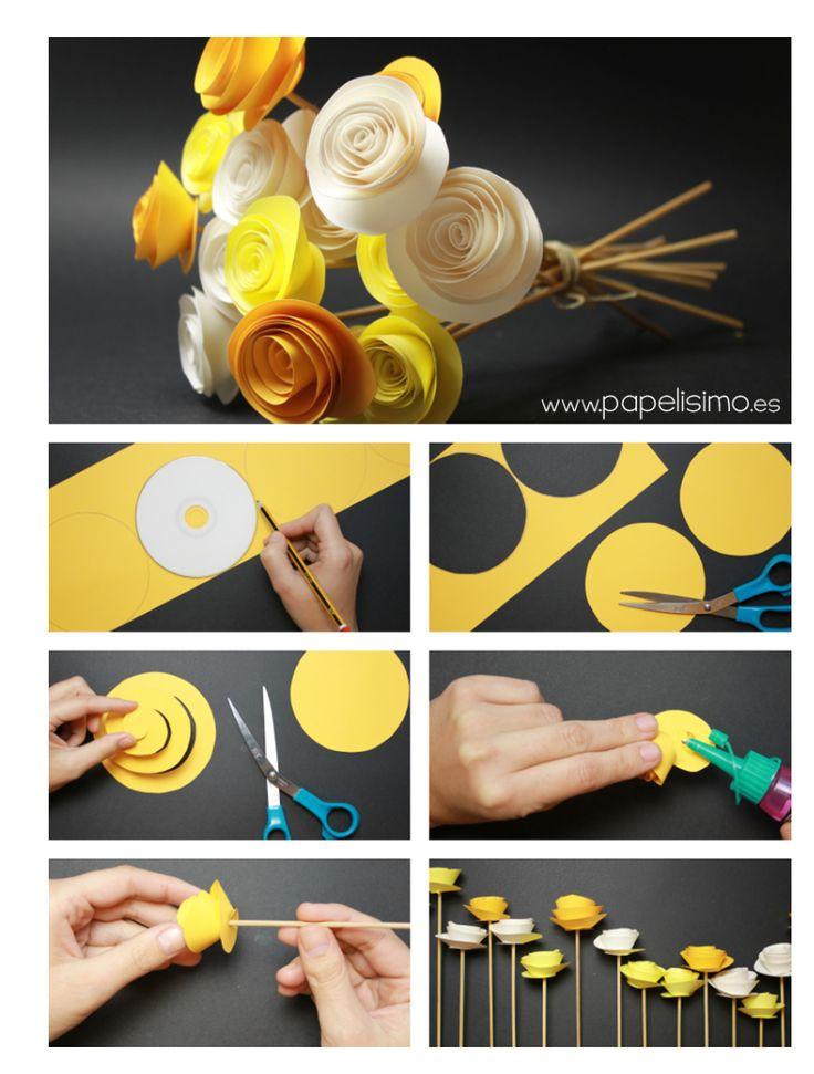 Best 25 flores en papel ideas on pinterest flores papel flores cartulina and flores en cartulina - Ramos de flores hermosas ...