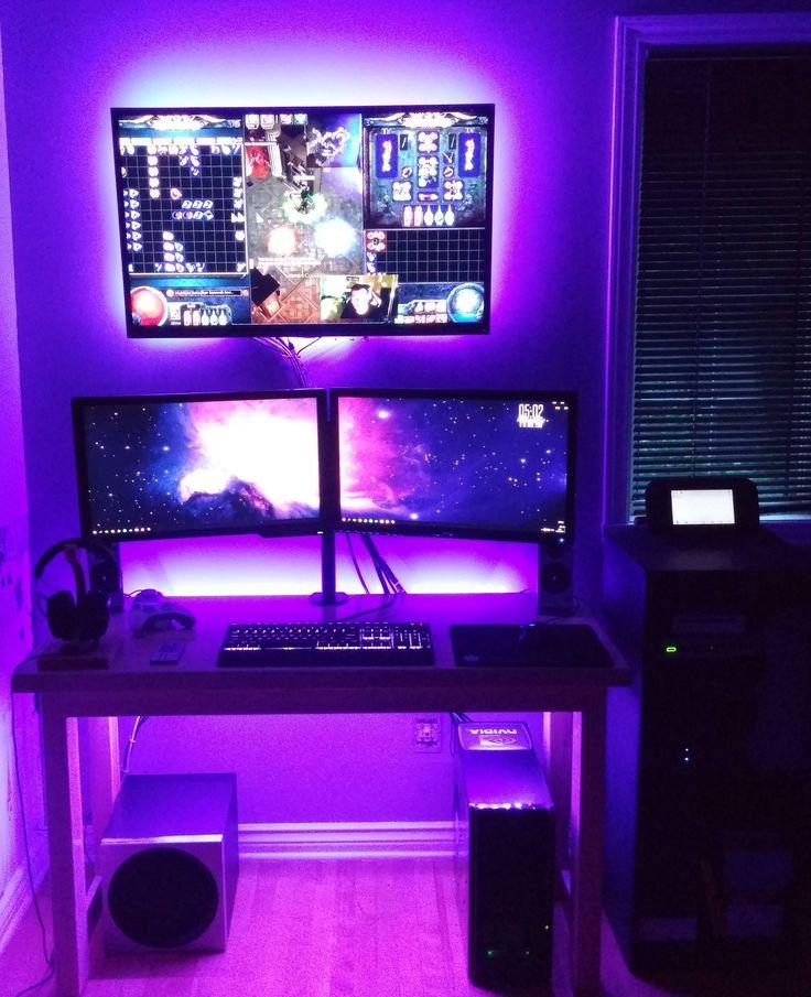 Best Game Room Ideas: Gaming Room Setup, Room Setup, Gamer Room
