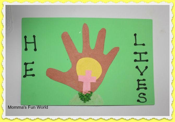 Easter Handprint Art Craft