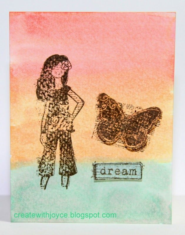 04 14 2014 Fun with watercoloring; CTMH Dreamer; watercolor background