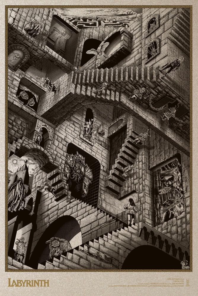 Labyrinth tribute by Chris Skinner for Cult Classic Prints