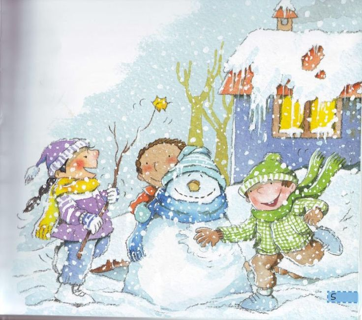 Praatplaat voor kleuters, sneeuw, free printable