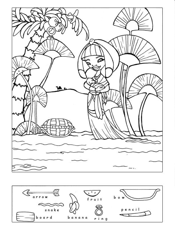 Preschool Bible Coloring Pages Moses
