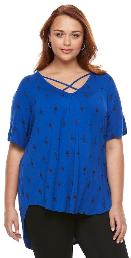 Apt. 9 Plus Size Strappy Dolman V-Neck Top