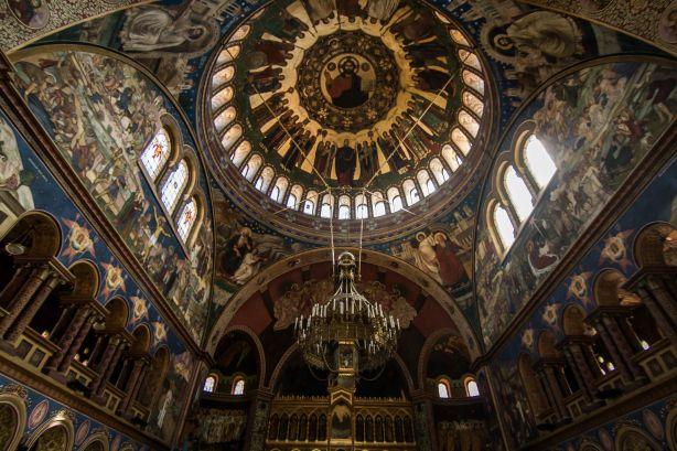 Orthodox Cathedral Ceiling Sibiu Romania