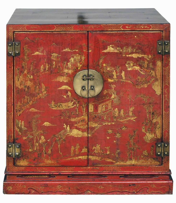 Red Or Black Lacquer Gilt Paintings U2013 Determining The Old From The New On  Chinese Gold Painted Furniture.