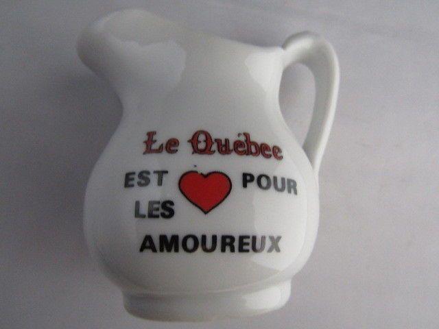 Le Quebec Est Pour Les Amourex Miniature Pitcher Souvenir