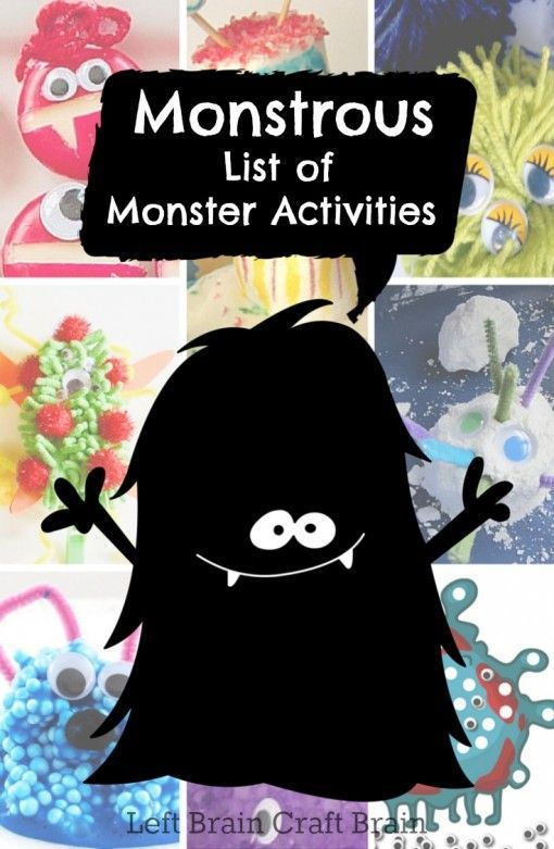 Monstrous List of Monster Activities and Ideas