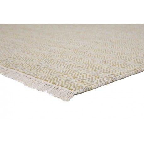 Zacht geel?wit vloerkleed met ruitdesign gemaakt van 100% hoogwaardige wol. #vloerkledenloods #ballista #modern #carpet #wol #rug #wool #interiordesign #tassels