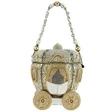 MARY FRANCES Before Midnight Gold Carriage Fairy Bag Handbag Purse Beaded NEW