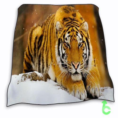 New Tiger Siberian Snow Tiger Blanket