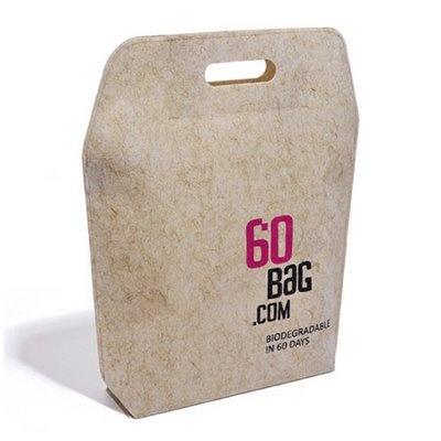 60 bag   Katarzyna Okinczyc carrier bag that's degradable in 60 days