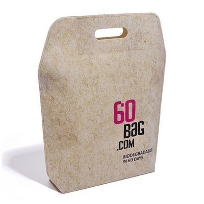 60 bag | Katarzyna Okinczyc carrier bag that's degradable in 60 days