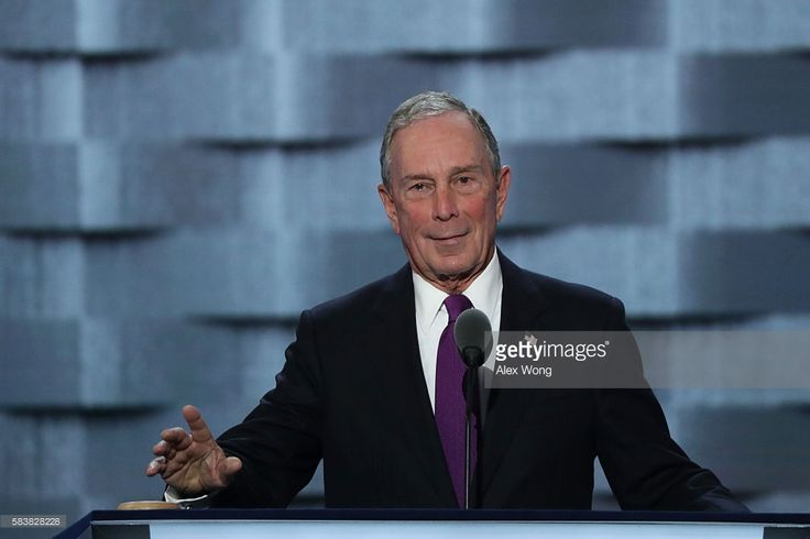Former New York City Mayor Michael Bloomberg delivers remarks on the third day of the Democratic National Convention at the Wells Fargo Center, July 27, 2016 in Philadelphia, Pennsylvania. Democratic presidential candidate Hillary Clinton received the number of votes needed to secure the party's nomination. An estimated 50,000 people are expected in Philadelphia, including hundreds of protesters and members of the media. The four-day Democratic National Convention kicked off July 25.  (Photo…