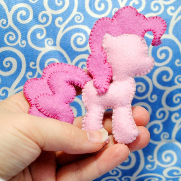 Pinkie Pie Felt Pin by ~Eviltwinpixie on deviantART