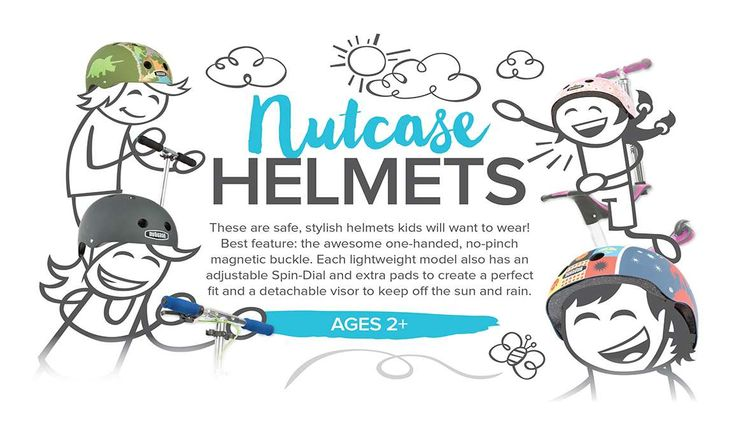 Scoot safely with Nutcase helmets -- the lightweight, adjustable, safe, and stylish helmets kids actually want to wear! http://www.mastermindtoys.com/Scooters-1.aspx?_outline=Brand--BNUTCASE