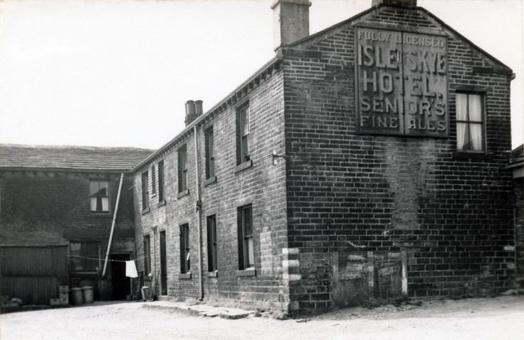 0124 The Isle of Skye Hotel which was up on the moors on Greenfield Road further on from the Huntsman Inn. It was closed in the 1950s because effluent from the building was contaminating the new Digley Reservoir. The hotel then burnt down and was demolished in the 1960s.