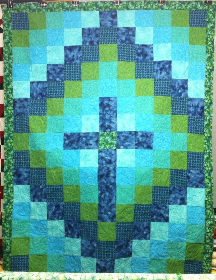 Cross Quilt . . . But three blocks under center, not the shown 4.