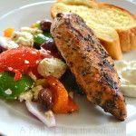 Greek-Chicken-&-Salad-{A-Pretty-Life}