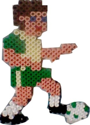 Football hama beads by MiikadOww