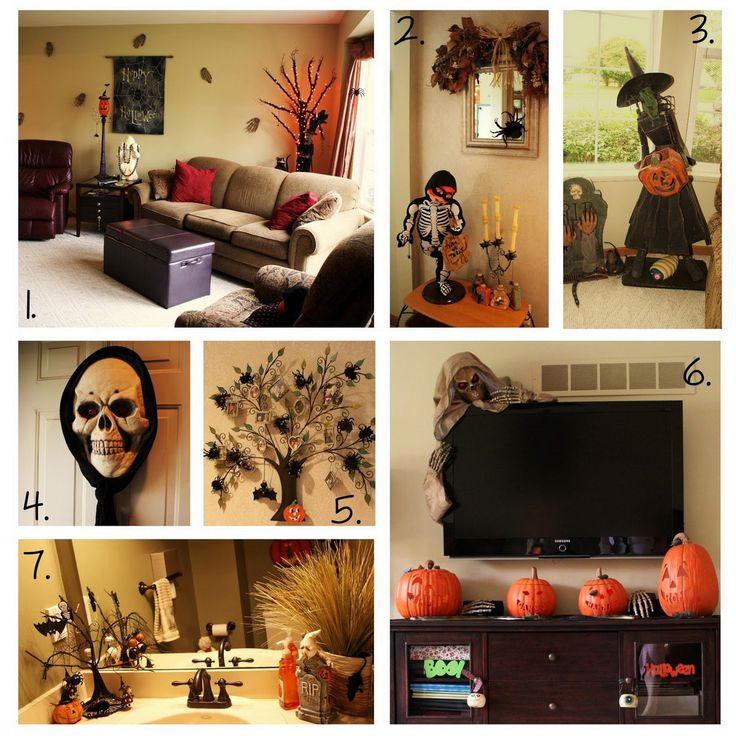 Scary Halloween Room Ideas | , Cool Halloween Decorations, Scary Sculpture In The Living Room ...