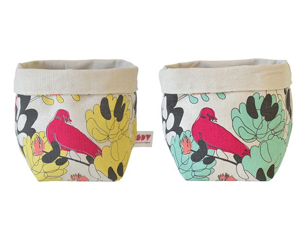Delightful little fabric baskets from iSpy