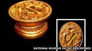 Tesoro del San Diego-Este sello español fue encontrado en el naufragio del galeón que se hundió en Filipinas en 1600.