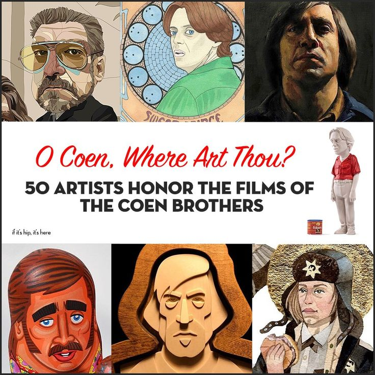 The O Coen, Where Art Thou? art show exhibiting at Spoke Art through February features the works of 50 different artists, all inspired by the films of Joel and Ethan Coen. We've got a look at many pieces from the show here. #art #coenbrosartshow #coenbrothers #popculture #movies