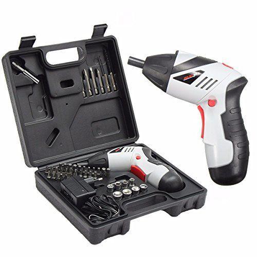 Perceuse Visseuse Sans Fil, GOCHANGE Portable Perceuse Rechargeable avec 45pcs d'Accessoires Electronique avec 1300 mAh, 4.8V Batterie:…