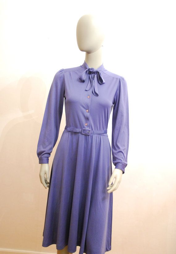 Light Purple Vintage Dress With Bow And Belt Simple Long by aveing